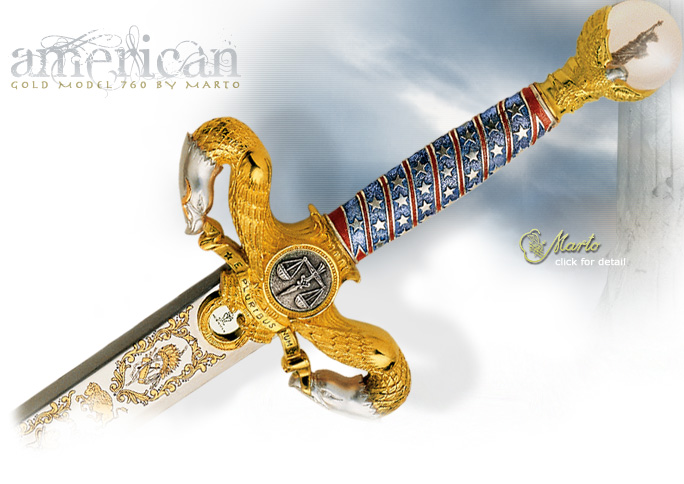 NobleWares Image of The American Liberty Sword 760 Gold Edition by Marto of Spain