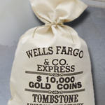 1880 Bank of TombStone Arizona, $10,000 GOLD Money Bag 30-601