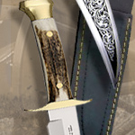 Stag Horn Bowie Knife 15A by Muela of Spain