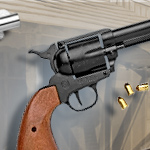 Old West M1873 Blued Finish 9mm Blank Firing replica revolver 38-161