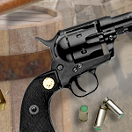 Old West M1873 Fast Draw Blued Finish 9mm Blank Firing replica revolver 38-200