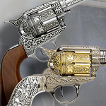 M1873 Single action Fast Draw Six shooter revolver 10203 and Deluxe battle of little big horn commemorative edition 10209 by Relicart