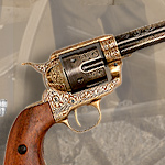 Non-firing Gold Engraved M1873 Fast Draw Western Six Shooter by Denix