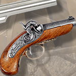 Baby Philadelphia Derringer non-firing replica 1018G by Denix and box set 27-378
