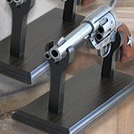 Desktop Pistol stands for Cavaly style fast draw replica pistols 27-01, 27-02