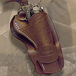 Old West Mexican Leather Loop Style Holster 04-270 and Fast Draw Holster 04-260