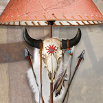 Cow Skull & Arrows 30 inch Corded Table Lamp NW1734